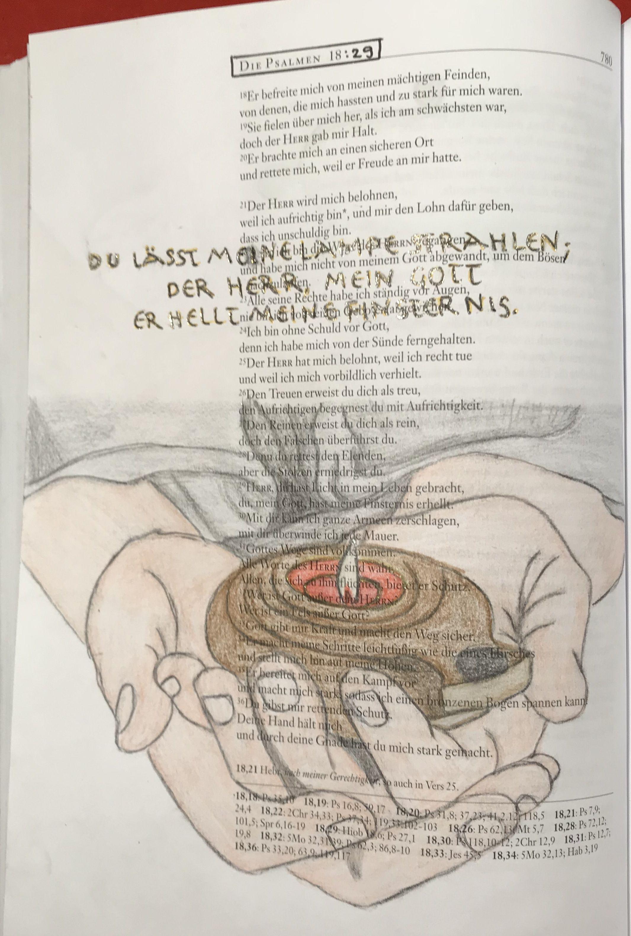 Bible Art Journaling Psalm 86 18
