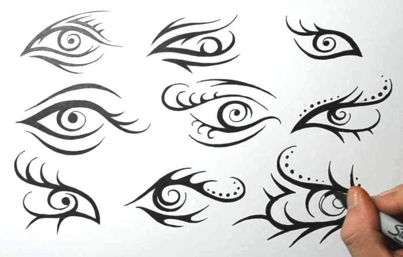 Tribal Eye Tattoo Design Sketches Eye Tattoo Tattoo Designs Small Chest Tattoos