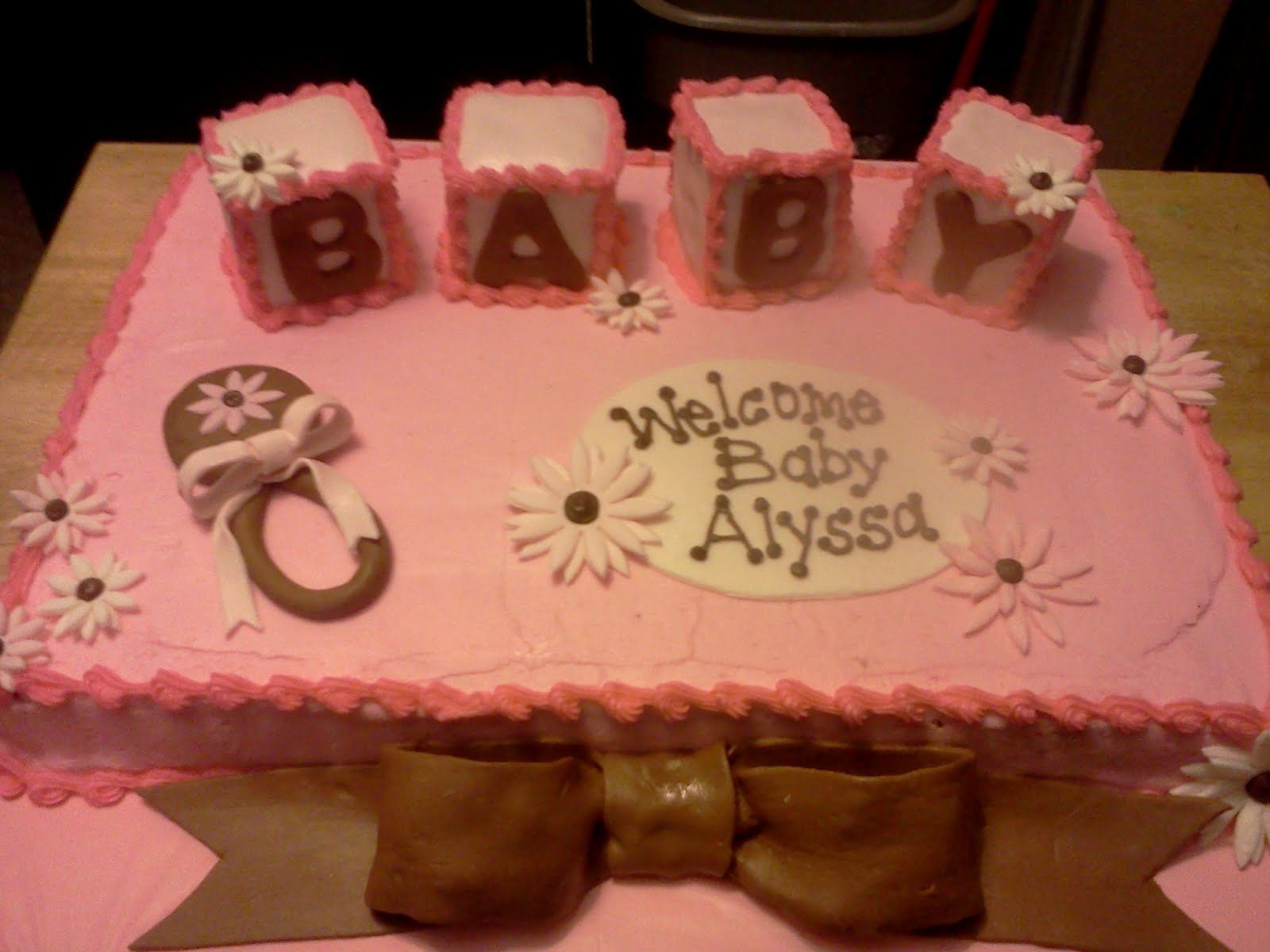 Groovy Kroger Baby Shower Cakes Cake Is Frosted With Buttercream And Personalised Birthday Cards Cominlily Jamesorg