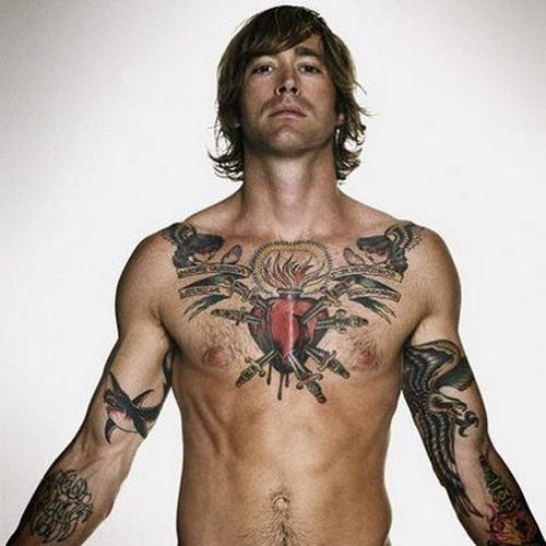 The Right Rose Tattoos For Men Chest Heart Tattoo Design Tattooeve Com Tattoo Ideas Inspiration Chest Tattoos For Women Sacred Heart Tattoos Best Celebrity Tattoos