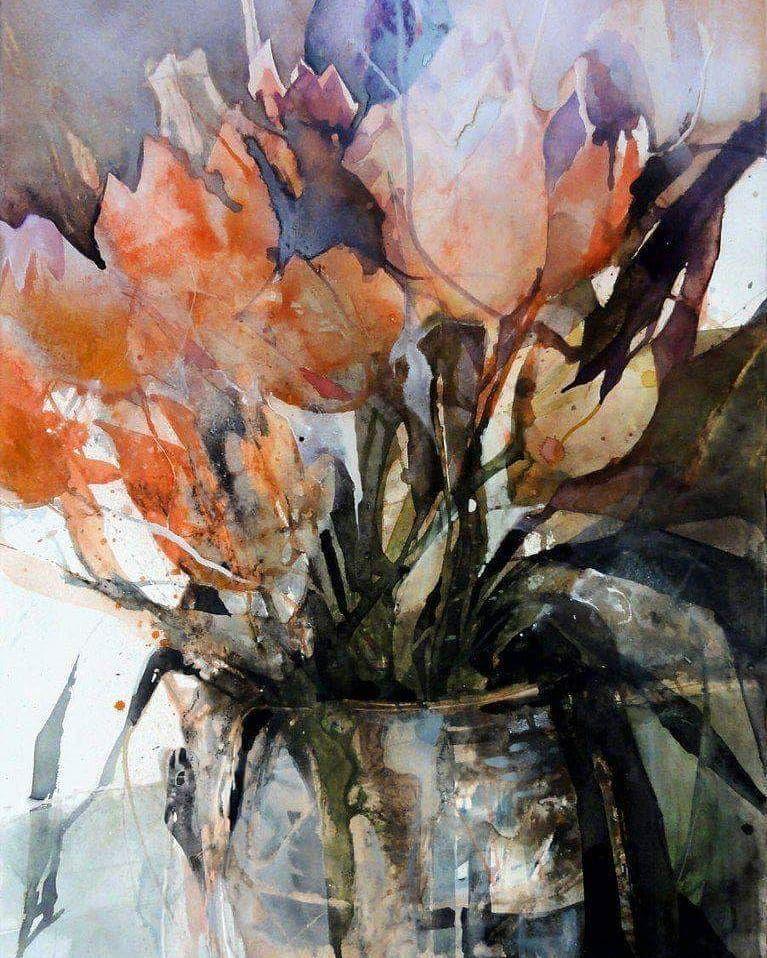 Elke Mmler Watercolor Flowers Paintings Floral Watercolor