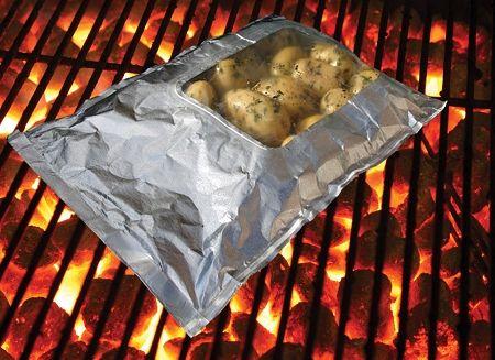 Qbag 3 Pack Large Aluminum Foil Grilling Oven Bag With Self Venting Window