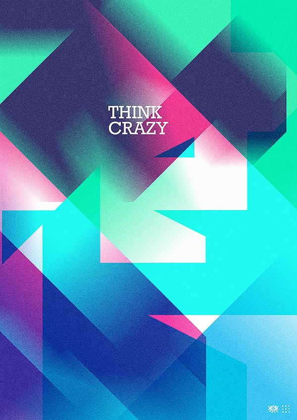 Think Crazy, Office abstract poster designs, via Behance # ...