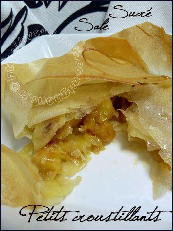 Roselline di mela e camambert (da fare anche con patate)