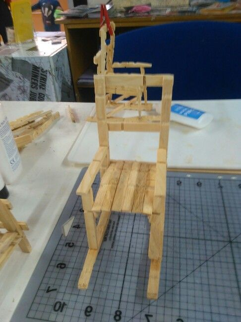 Rocking chair made out of wooden laundry pegs jcb artwork rocking chair made out of wooden laundry pegs solutioingenieria Image collections