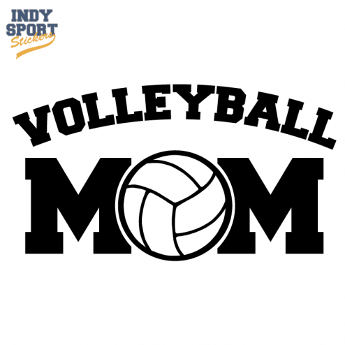 Volleyball Mom Text With Volleyball Center Car Stickers And Decals Volleyball Shirt Designs Volleyball Mom Volleyball Mom Shirts
