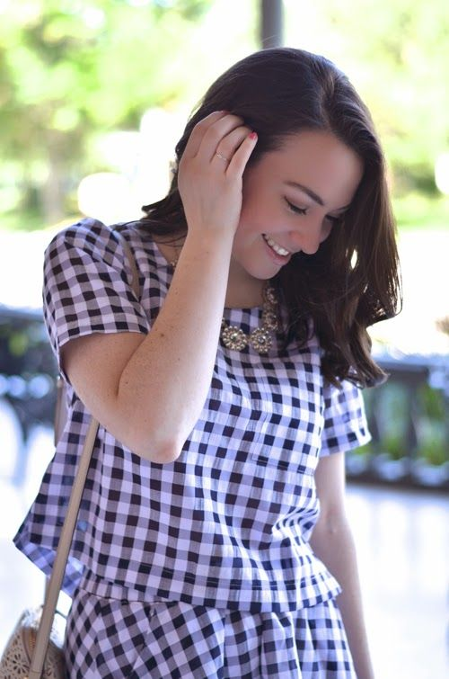 Gingham Top and Skirt