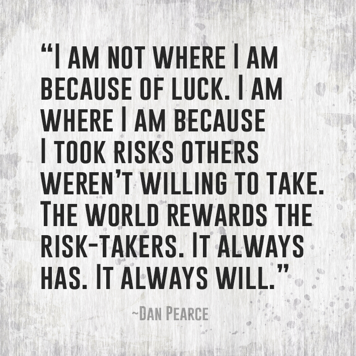 I Am Not Where I Am Because of Luck | Luck quotes, Risk quotes ...