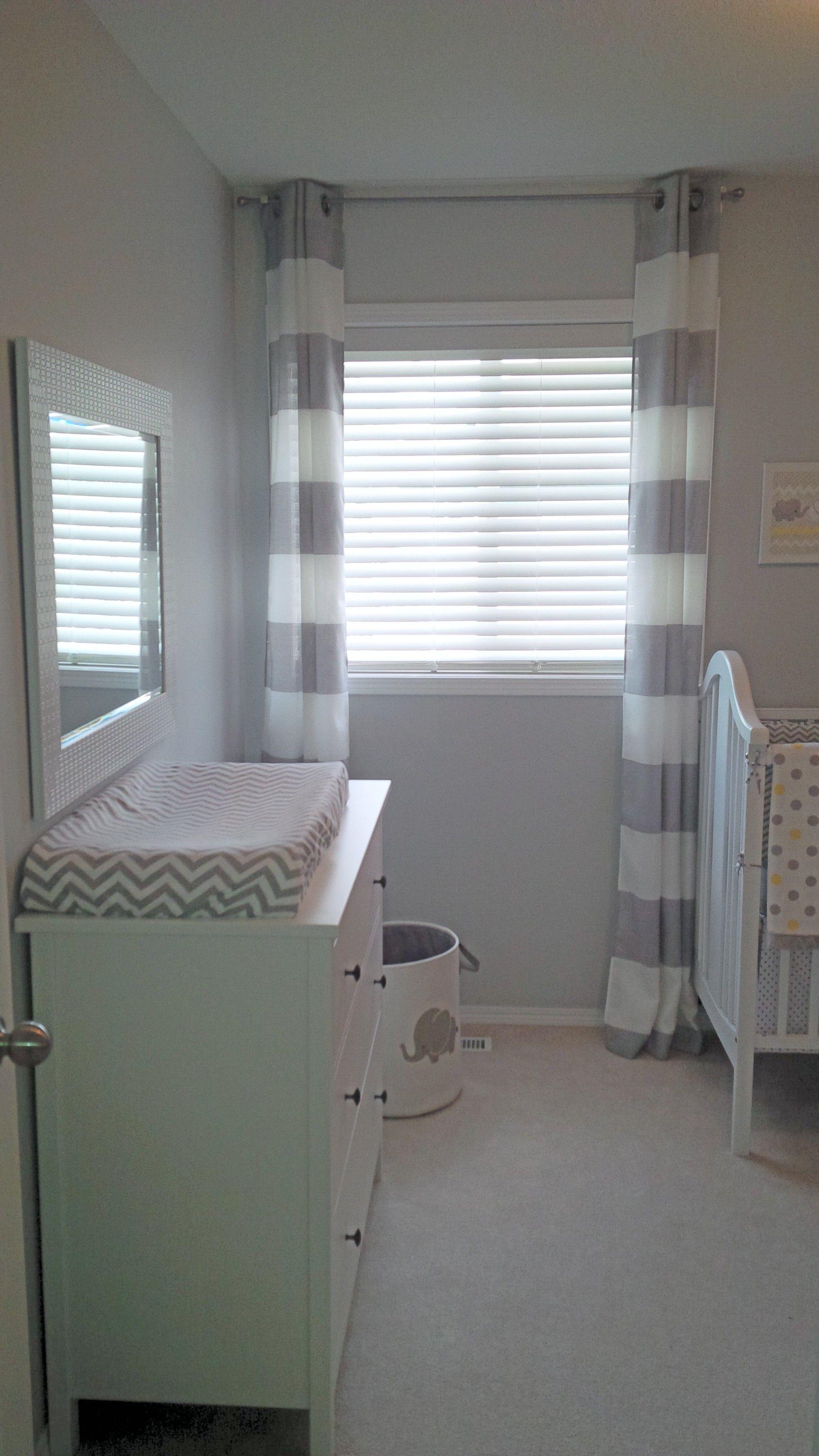white and grey nursery