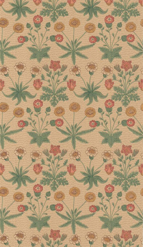Daisy Manilla/Russet från William Morris & Co Gobelänger