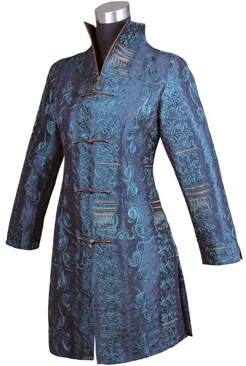 Brocade coat long coat chinese traditional coat