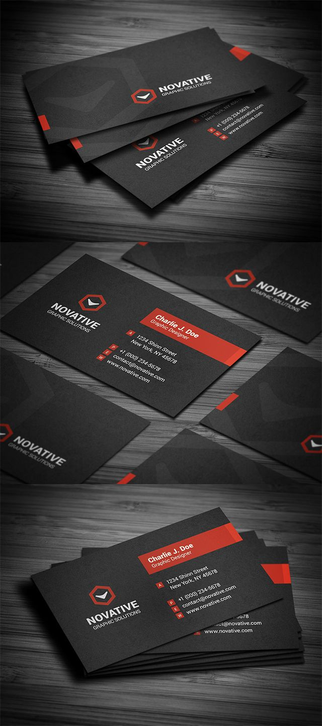 Creative black textured business card template, available for ...