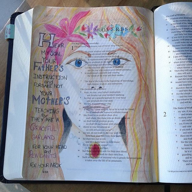 First bible journaling entry #biblejournalingcommunity #journalingbible #bibleart #biblejournaling