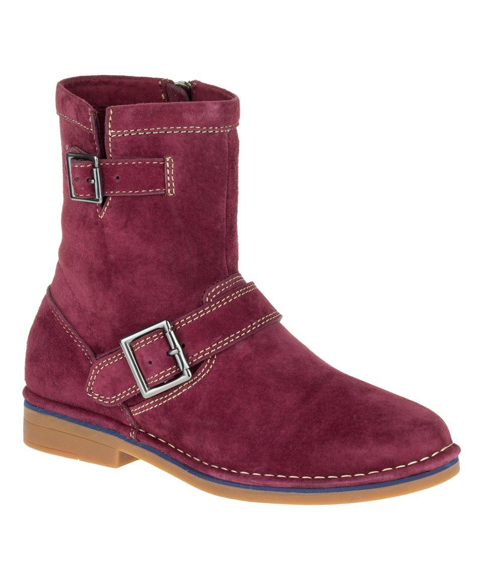 Take a look at this Wine Aydin Catelyn Suede Ankle Boot