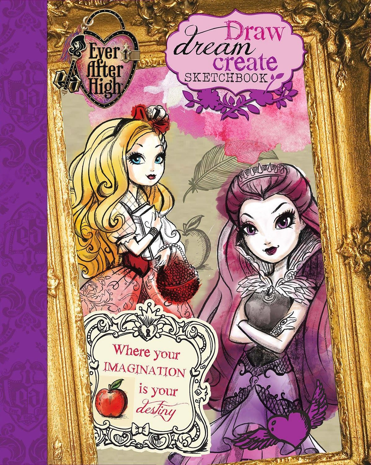 Monster High Libros Ever After High Pretty Nuevo Libro Sketchbook De Ever
