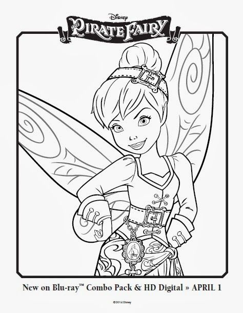 Free Printable Disney fairy Coloring Pages Disney Pirate