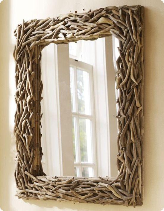 driftwood mirror decorative art pinterest treibholz holz und treibholz spiegel. Black Bedroom Furniture Sets. Home Design Ideas