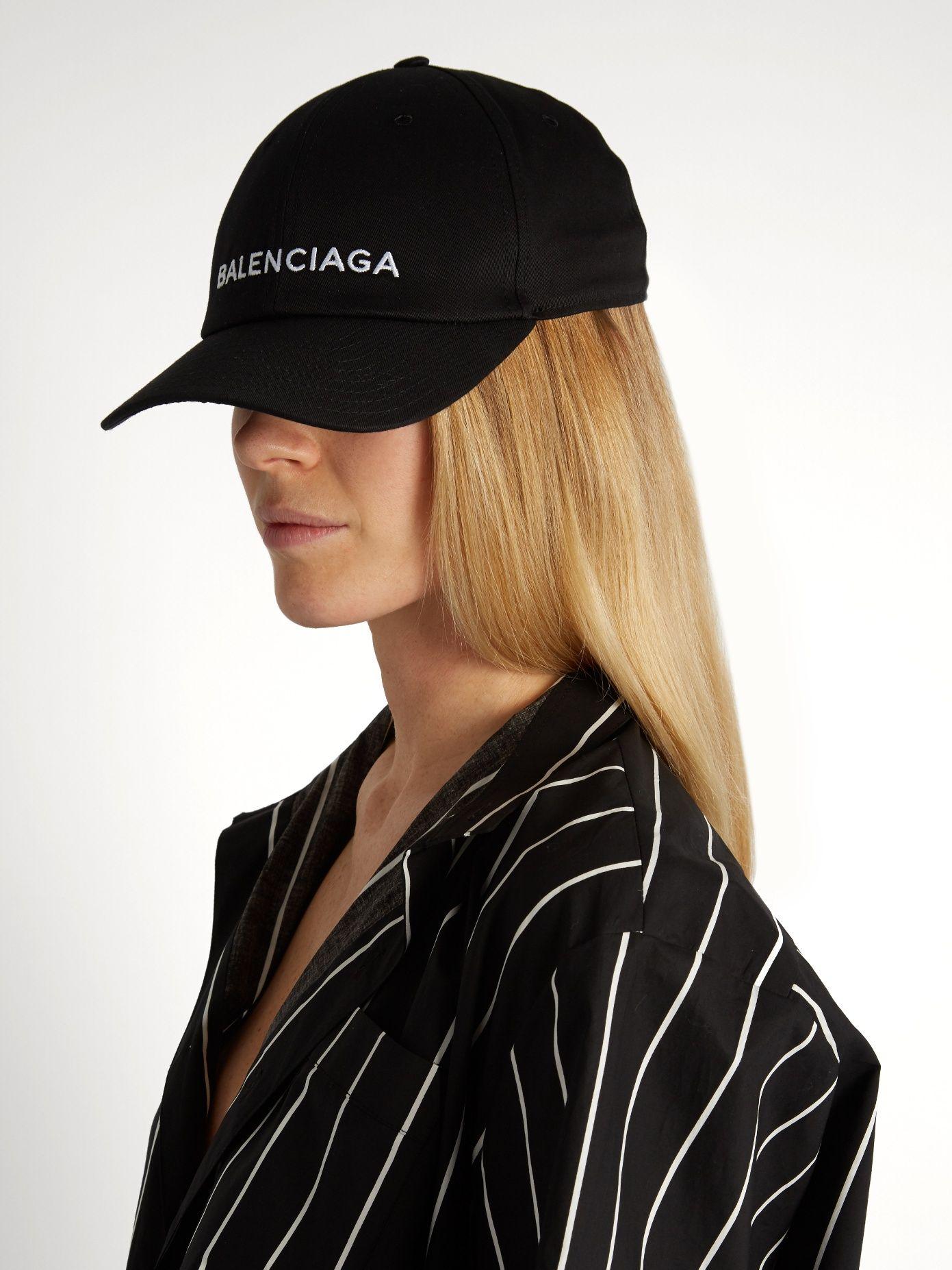 92d83fe4e702b0 Cotton logo-embroidered cap | Balenciaga | MATCHESFASHION.COM ...