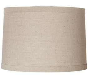 Springcrest Natural Linen and Taupe 15x16x11 Drum Lamp Shade ...
