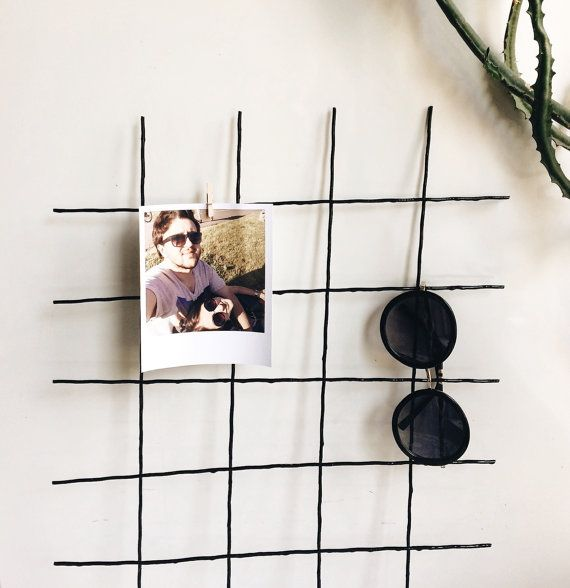 Black Wire Wall Grid Wire Mesh Memo Board Notice Metal Grid