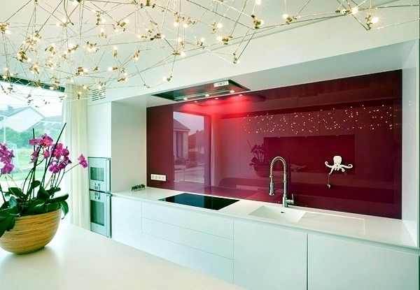Attirant Modern Glass Kitchen Splash Back Wall Designs Offer Protection In The  Kitchen