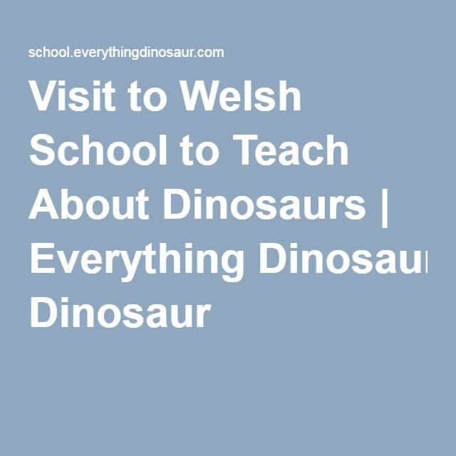 Visit to Welsh School to Teach About Dinosaurs | Everything Dinosaur