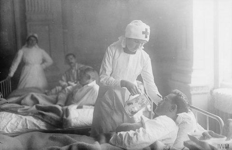 The most infectious, rapid and fatal of all diseases of the battlefield — gas gangrene — has probably been vanquished by science at the American Hospital at Neuilly. Through the heroism of a nurse, Miss Mary Davies, who inoculated herself with the bacilli,