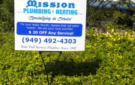 Mission Plumbing And Heating Yard Sign Starfish Signs Graphics