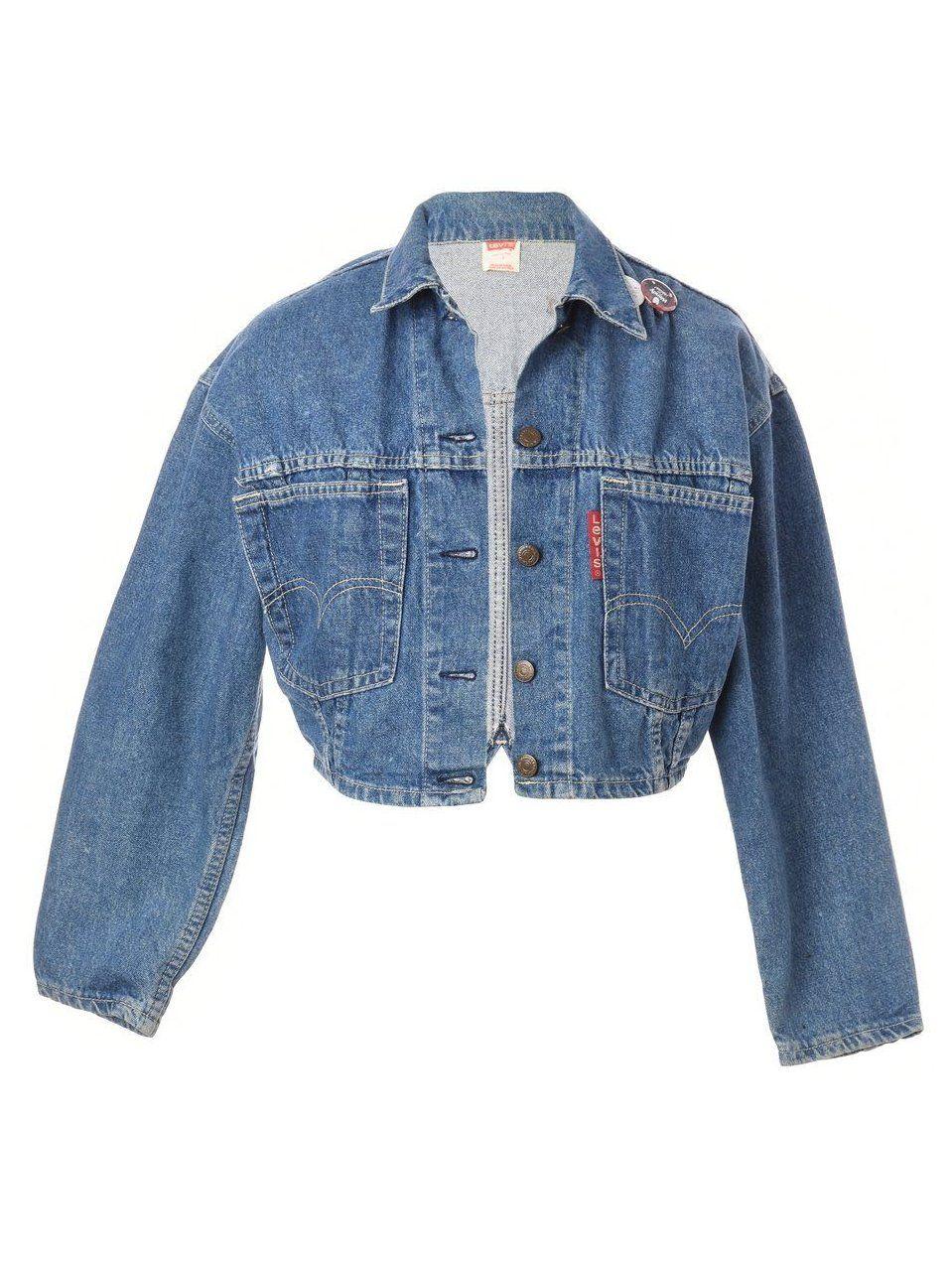 Women S Vintage Jackets Beyond Retro Levi S Cropped Denim Jacket In 2020 Jacket Outfit Women Vintage Jacket Vintage Denim Jacket