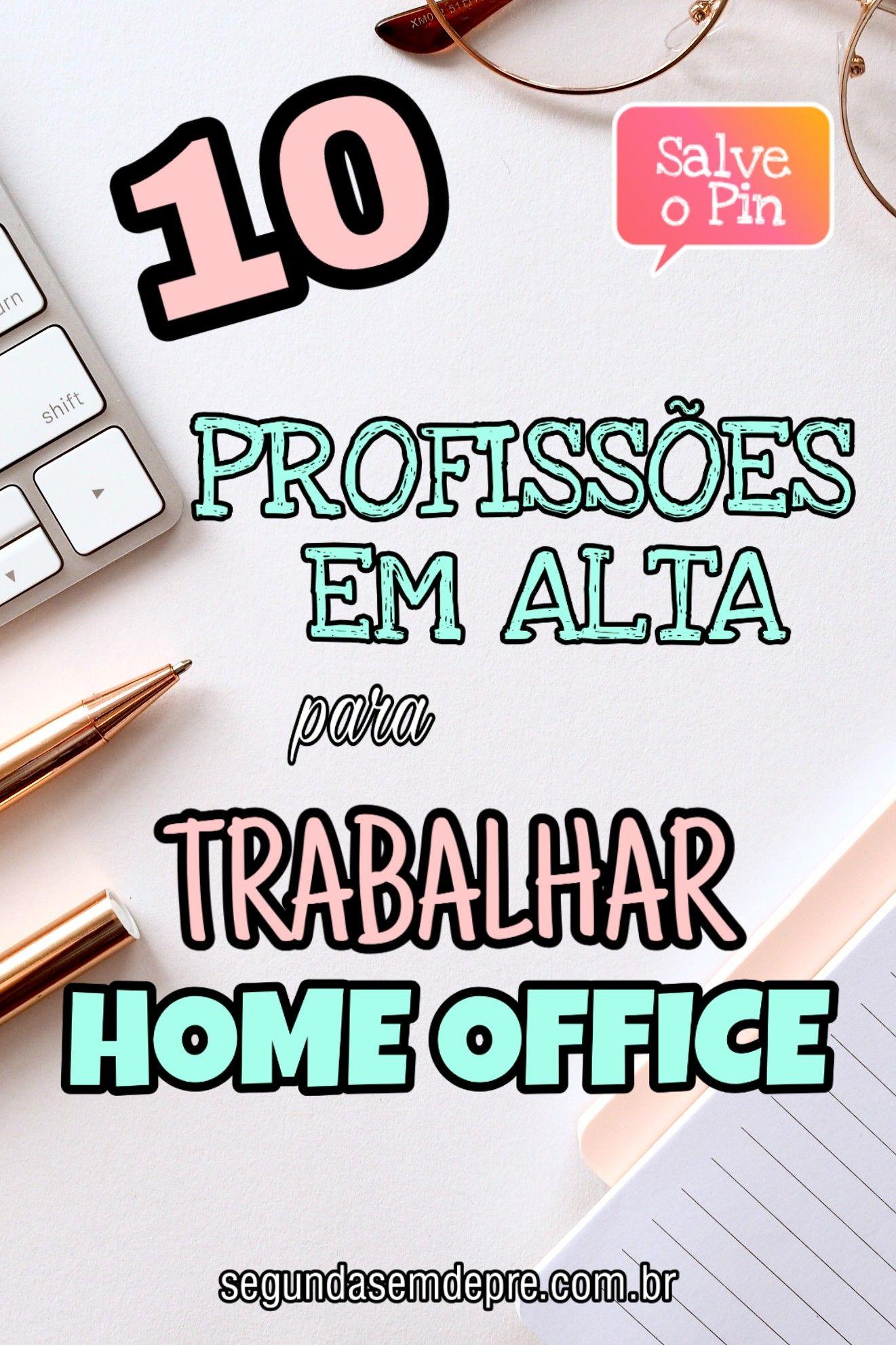 profissões para trabalhar em home office