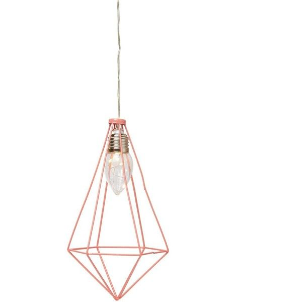 pyramid hanging cage light (28 BRL) ❤ liked on Polyvore featuring home, lighting, ceiling lights, colored lights, battery operated ceiling lights, colored light, colored lamps and battery powered lights