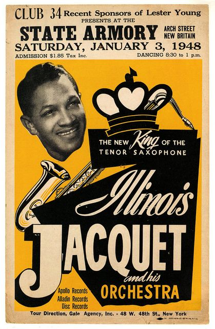 Illinois Jacquet & His Orchestra by paul.malon, via Flickr