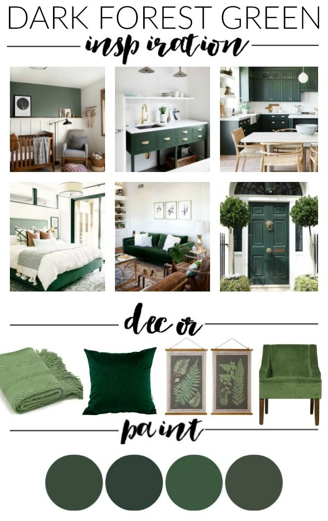Dark Hunter Green Paint Decor And Inspiration Pinterest High Contrast Create