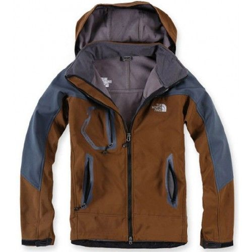 $103.60 North Face Windstopper Mens Jackets Brown Grey