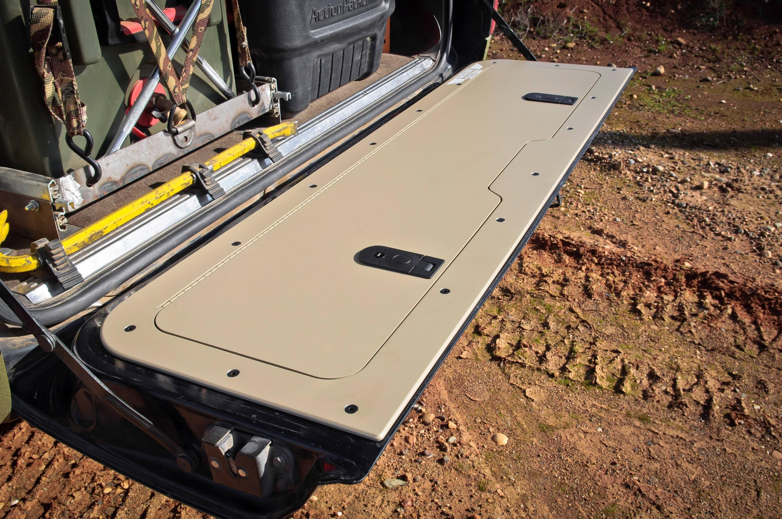 Tailgate Storage Panel For The 80 4x4 Offroad Grime Dubstep Land Cruiser 80 Toyota Cruiser Pickup Trucks Bed