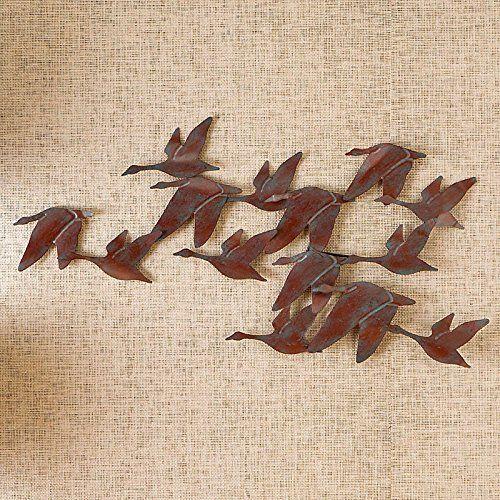 Flock of geese metal wall sculpture improvements · nebraska furniture martmetal