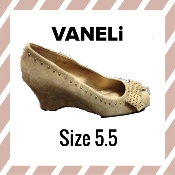 """Selling this """"New! Cute suede wedge"""" in my Poshmark closet! My username is: class4half. #shopmycloset #poshmark #fashion #shopping #style #forsale #VANELi #Shoes"""