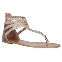4181b387b Riverberry Women s  Sloane  Rose Gold Gladiator Sandals
