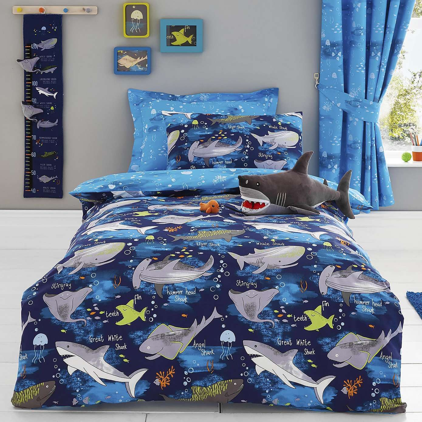 Sharks Navy Bed Linen Collection Dunelm Bed Linens