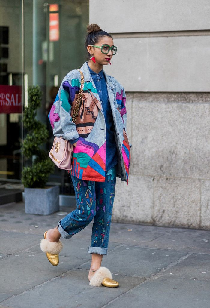 The Latest Street Style From London Fashion Week #denimstreetstyle