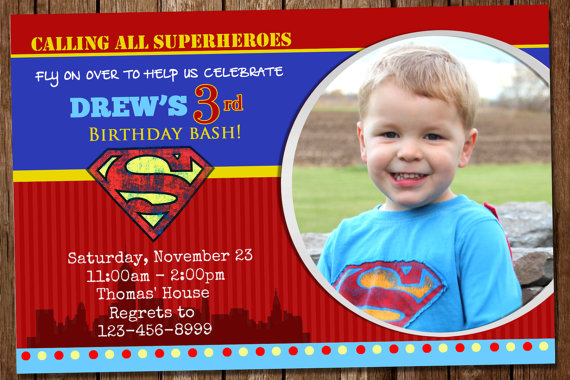 Awesome Superman Invitation Pinterest Superman invitations