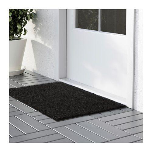 Fußmatten Für Draußen oplev fußmatte drinnen draußen schwarz 50x80 cm drinnen draußen
