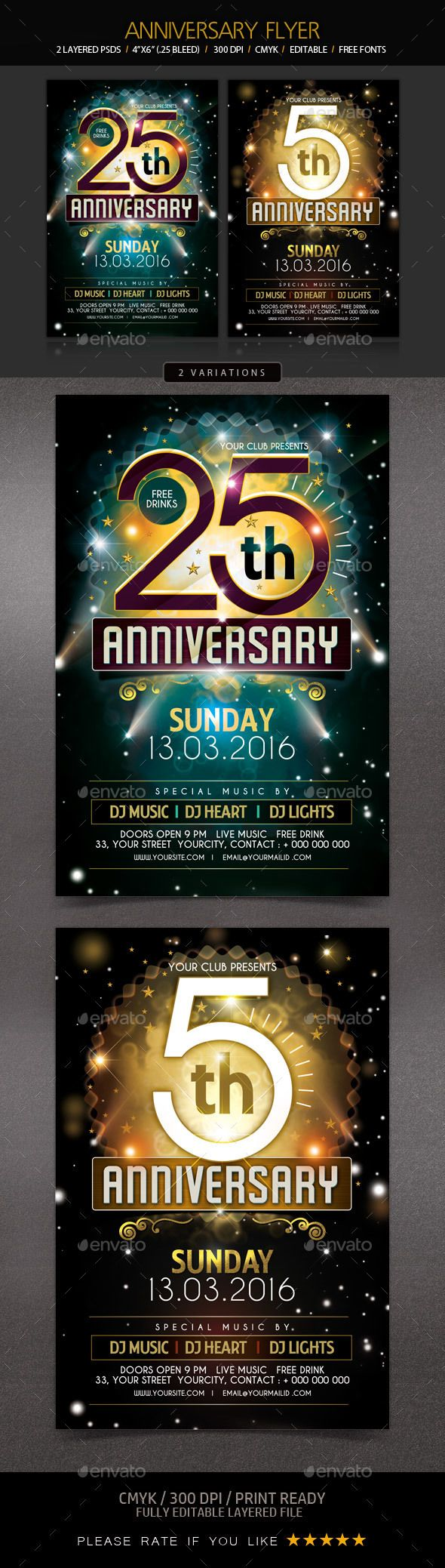 Church Anniversary Flyer Template – Anniversary Flyer