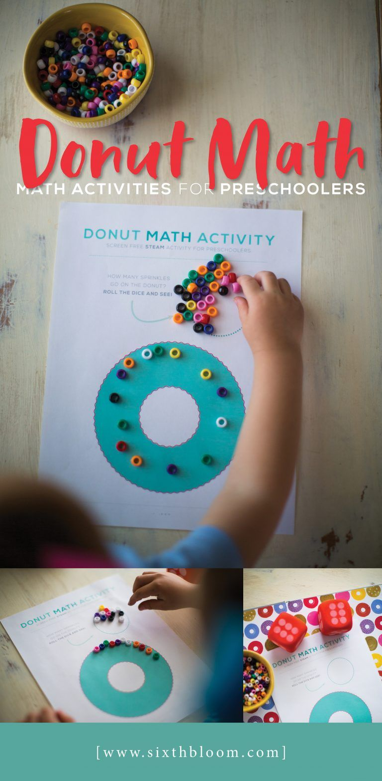 Donut Math Math Activities For Preschoolers Math Activities
