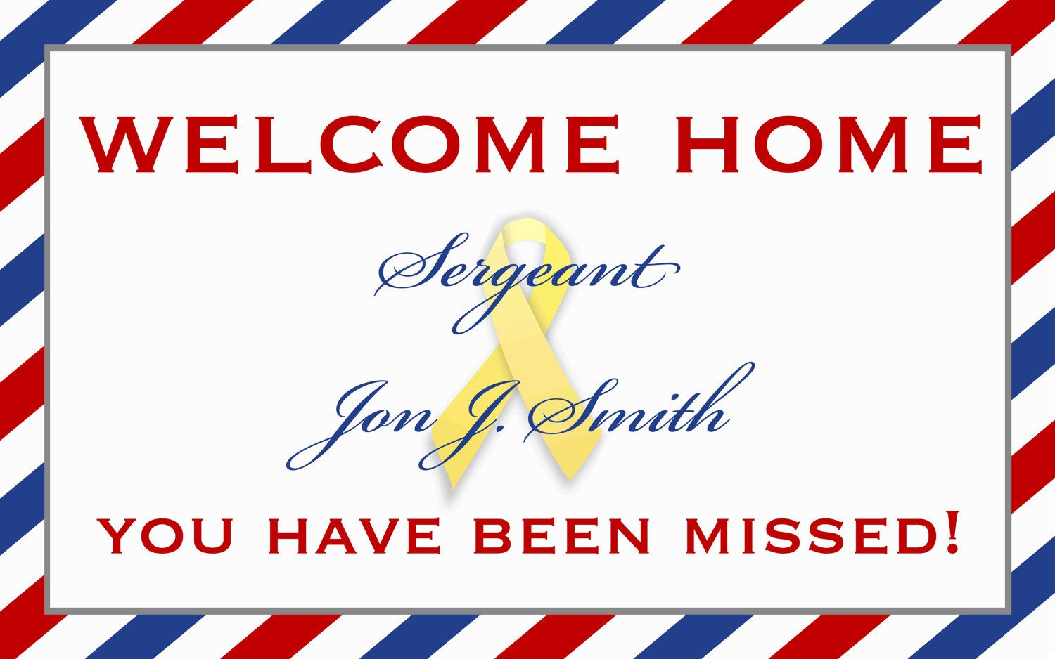 Military Welcome Home Banner by starsandstripe on Etsy, $1.00 www ...