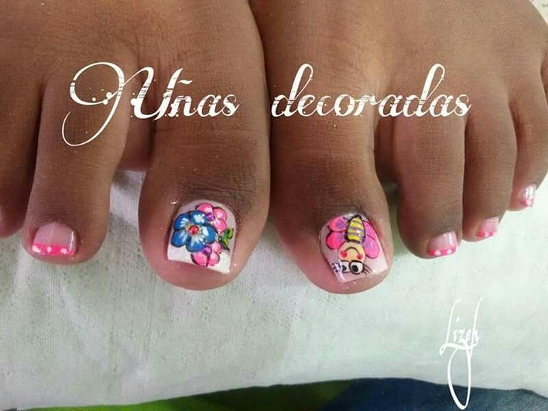Uñas pies   Diseños de uñas pies, Manicura de uñas, Uñas ...