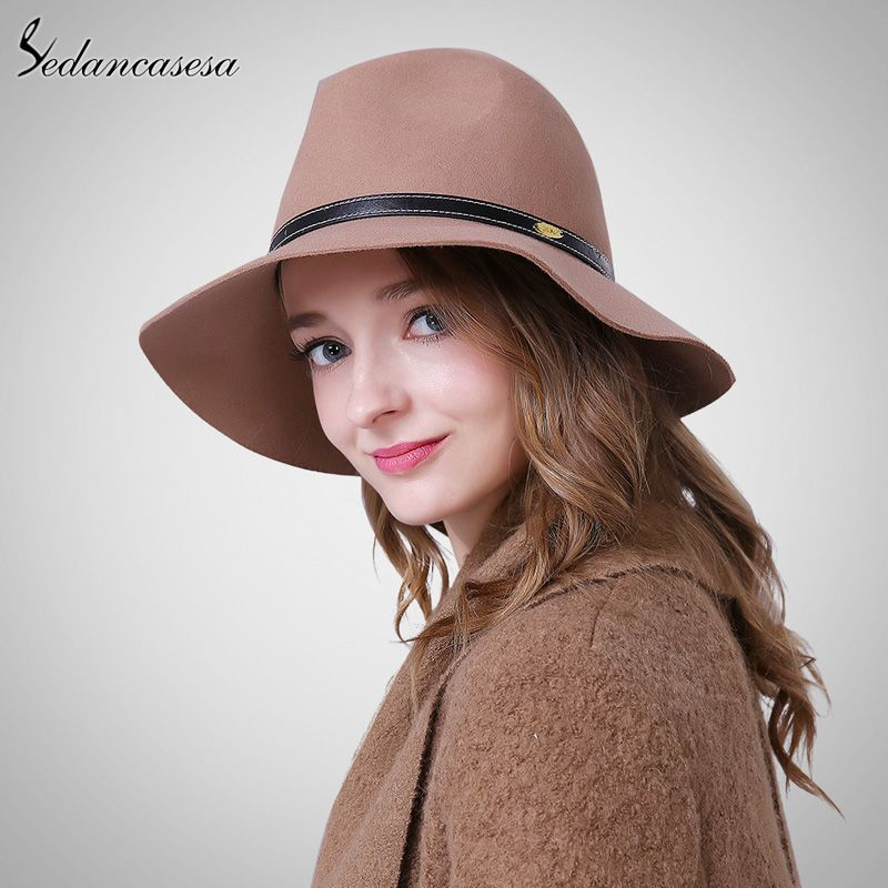 Australia Wool Felt Hat England women Fedora Hat wide brim hats for elegant  lady hat Christmas GIfts Oh just take a look at this! 0da6f38503ba