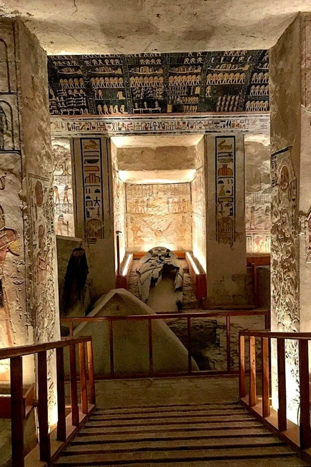 Burial chamber of King Ramesses VI (KV9). Valley of the