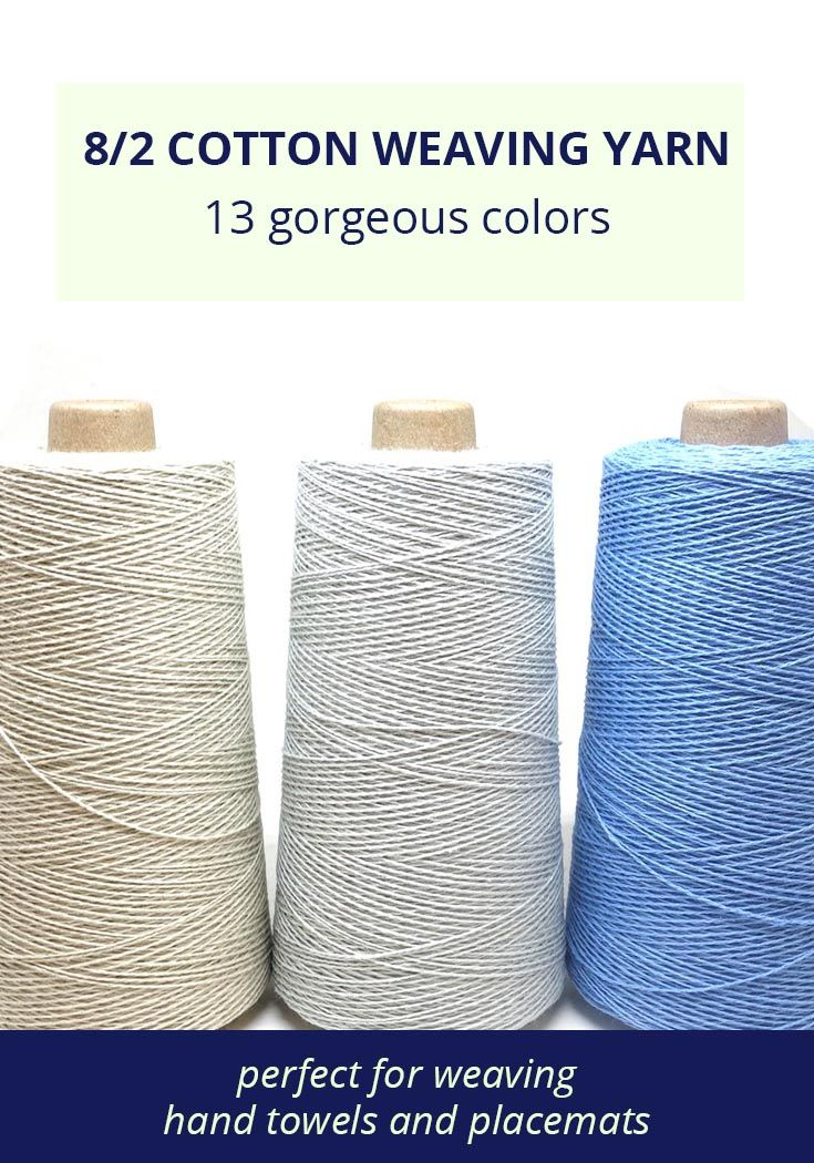 Weavers: Shop now for 8/2 unmercerized cotton - perfect for hand ...