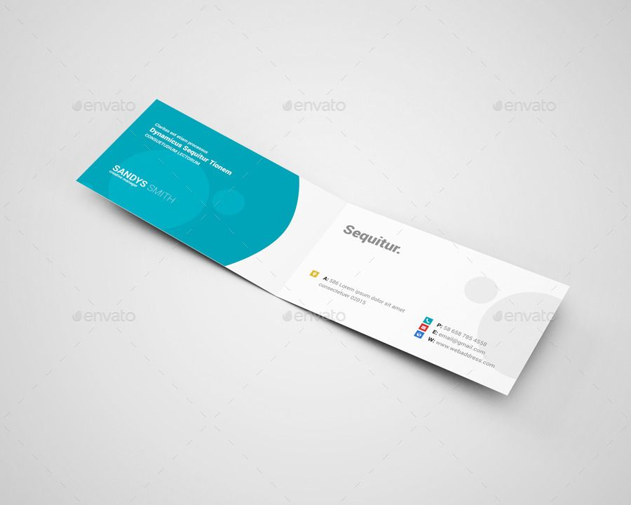 folded business card - Google Search Design Inspo Pinterest - blank tri fold brochure template
